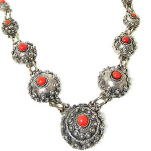 Vintage  80's Necklace Large Alloy Chunky